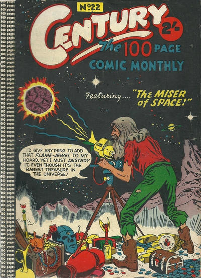 Cover for Century, The 100 Page Comic Monthly (K. G. Murray, 1956 series) #22