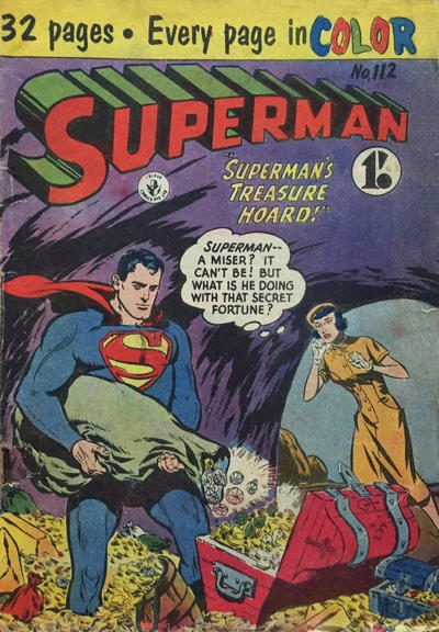 Cover for Superman (K. G. Murray, 1947 series) #112