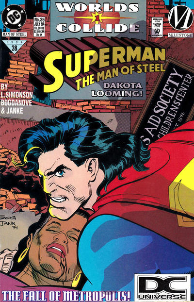 Cover for Superman: The Man of Steel (DC, 1991 series) #35
