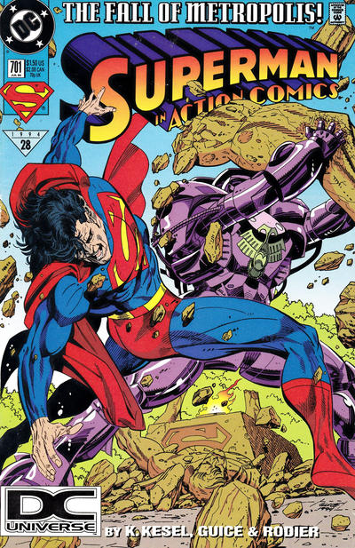 Cover for Action Comics (DC, 1938 series) #701