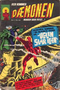 Cover Thumbnail for Dæmonen (Interpresse, 1967 series) #21
