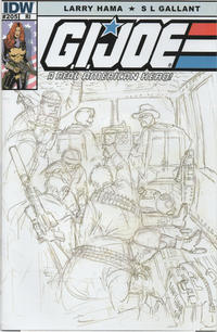 Cover Thumbnail for G.I. Joe: A Real American Hero (IDW, 2010 series) #204 [Cover RI - Incentive Larry Hama Sketch Variant]