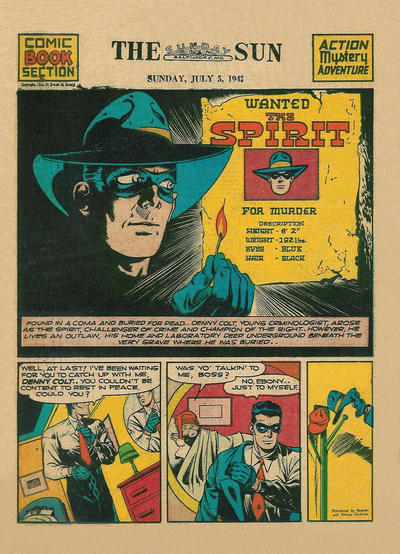 Cover for The Spirit (Register and Tribune Syndicate, 1940 series) #7/5/1942