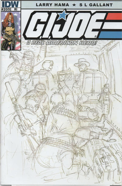 Cover for G.I. Joe: A Real American Hero (IDW, 2010 series) #204 [S. L. Gallant]