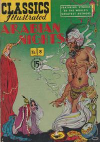 Cover Thumbnail for Classics Illustrated (Gilberton, 1947 series) #8 [HRN 78] - Arabian Nights [15¢]