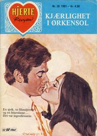 Cover Thumbnail for Hjerterevyen (Serieforlaget / Se-Bladene / Stabenfeldt, 1960 series) #20/1981