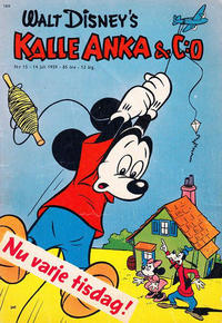 Cover Thumbnail for Kalle Anka & C:o (Hemmets Journal, 1957 series) #15/1959