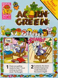 Cover Thumbnail for Acorn Green (Marvel UK, 1986 series) #25