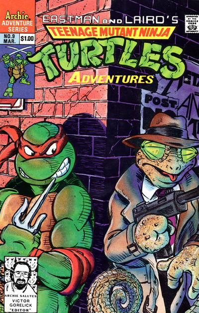 Cover for Teenage Mutant Ninja Turtles Adventures (Archie, 1989 series) #9 [Direct Edition]