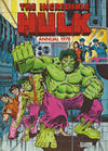 Cover for Incredible Hulk Annual (World Distributors, 1978 series) #1978