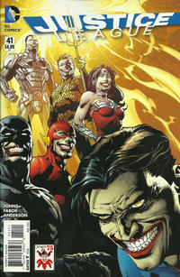 Cover Thumbnail for Justice League (DC, 2011 series) #41 [David Finch The Joker 75th Anniversary Variant]