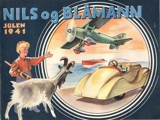 Cover for Nils og Blåmann (Illustrert Familieblad, 1929 series) #1941