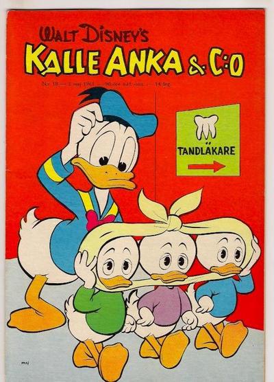 Cover for Kalle Anka & C:o (Hemmets Journal, 1957 series) #18/1961