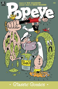 Cover Thumbnail for Classic Popeye (IDW, 2012 series) #32 [David Degrand variant cover]