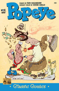 Cover Thumbnail for Classic Popeye (IDW, 2012 series) #34 [Oscar Grillo variant cover]