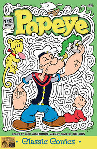 Cover Thumbnail for Classic Popeye (IDW, 2012 series) #35 [Joe Wos variant cover]
