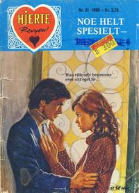 Cover Thumbnail for Hjerterevyen (Serieforlaget / Se-Bladene / Stabenfeldt, 1960 series) #31/1980