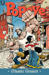 Cover Thumbnail for Classic Popeye (IDW, 2012 series) #30 [Steve Mannion variant cover]