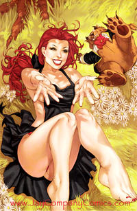 Cover Thumbnail for Grimm Fairy Tales (Zenescope Entertainment, 2005 series) #14 [2007 Wizard World Texas JayCo Exclusive Gothic Lolita Eric Basaldua Virgin Art Variant]