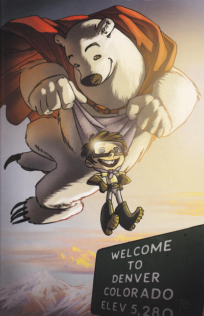 Cover for Herobear and the Kid: Saving Time (Boom! Studios, 2014 series) #1 [Denver Comic Con Exclusive Cover]