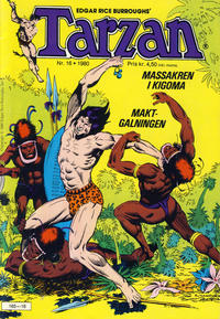 Cover Thumbnail for Tarzan (Atlantic Forlag, 1977 series) #16/1980