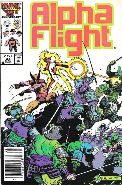 Cover for Alpha Flight (Marvel, 1983 series) #34 [Direct Edition]