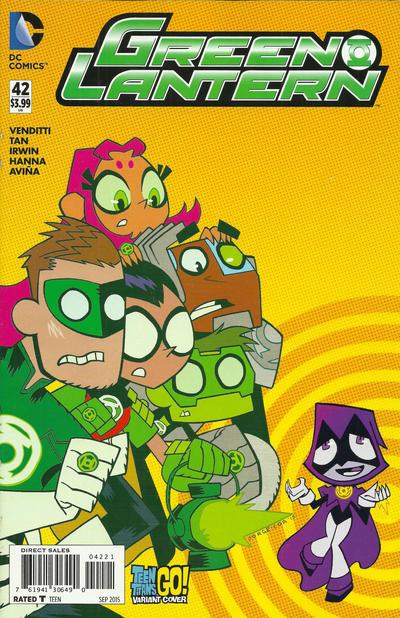 Cover for Green Lantern (DC, 2011 series) #42 [Teen Titans Go! Variant]