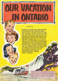 Cover Thumbnail for Our Vacation in Ontario (The Division of Publicity, Department of Travel and Publicity, 1954 ? series) #[nn] [Route No 1 cover]