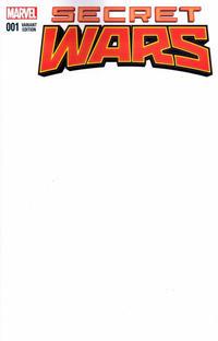 Cover Thumbnail for Secret Wars (Marvel, 2015 series) #1 [Blank Cover Variant]