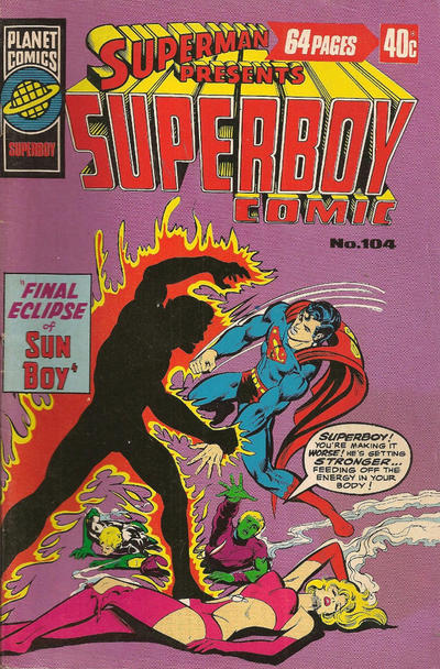 Cover for Superman Presents Superboy Comic (K. G. Murray, 1976 ? series) #104