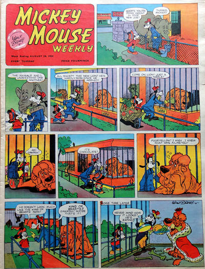 Cover for Mickey Mouse Weekly (Odhams, 1936 series) #746