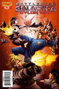 Cover Thumbnail for Battlestar Galactica: Cylon War (Dynamite Entertainment, 2009 series) #4 [Cover A Segovia]