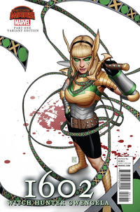 Cover Thumbnail for 1602: Witch Hunter Angela (Marvel, 2015 series) #1 [John Tyler Christopher Gwengela Variant]