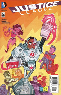 Cover Thumbnail for Justice League (DC, 2011 series) #42 [Teen Titans Go! Cover]