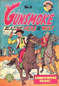 Cover Thumbnail for Gunsmoke Blazing Hero of the West (Atlas, 1954 ? series) #2