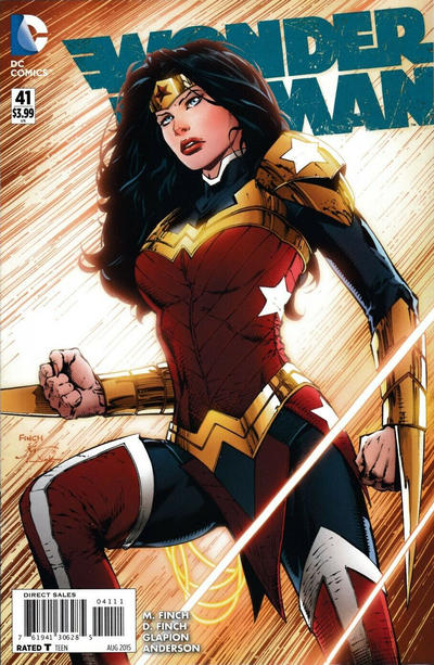 Cover for Wonder Woman (DC, 2011 series) #41 [Newsstand]