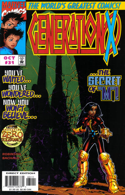 Cover for Generation X (Marvel, 1994 series) #31 [Direct Edition]