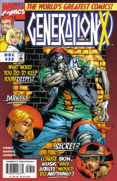 Cover for Generation X (Marvel, 1994 series) #33 [Direct Edition]