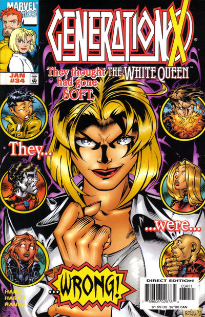 Cover for Generation X (Marvel, 1994 series) #34 [Direct Edition]