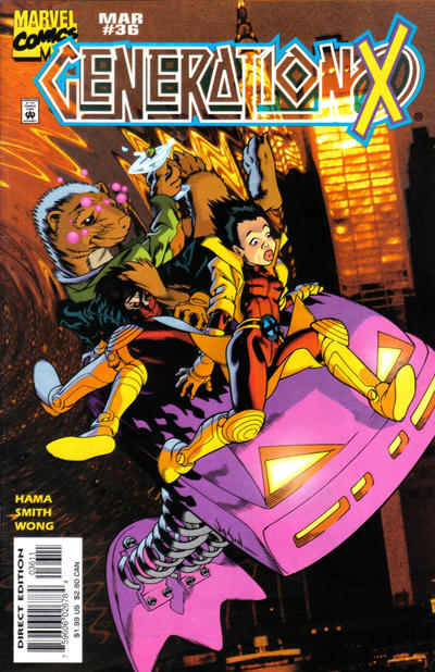 Cover for Generation X (Marvel, 1994 series) #36 [Direct Edition]