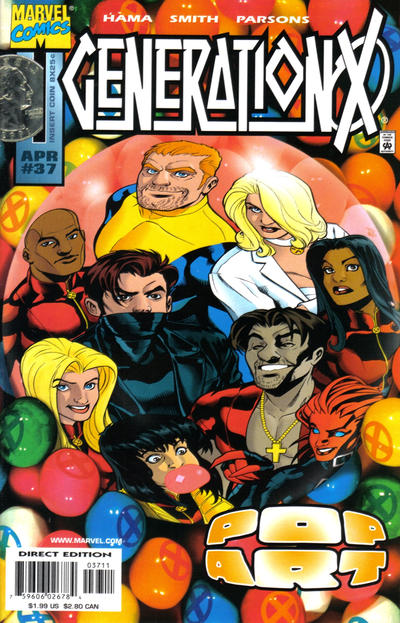 Cover for Generation X (Marvel, 1994 series) #37 [Direct Edition]