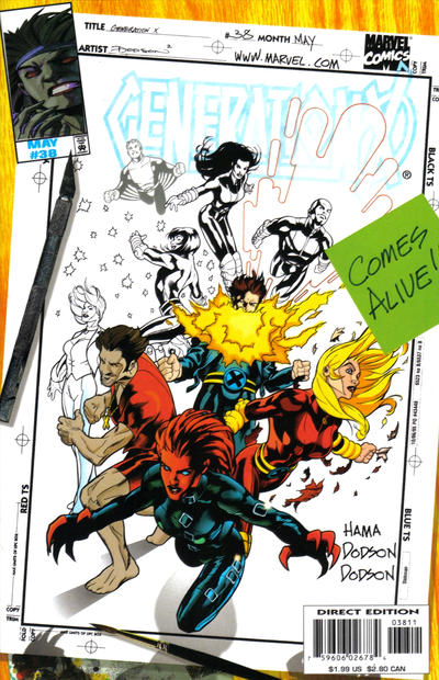 Cover for Generation X (Marvel, 1994 series) #38 [Direct Edition]