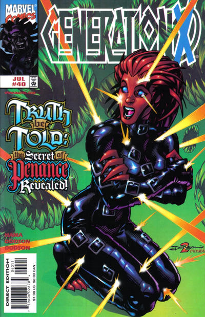 Cover for Generation X (Marvel, 1994 series) #40 [Direct Edition]