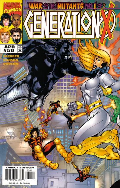 Cover for Generation X (Marvel, 1994 series) #50 [Direct Edition]