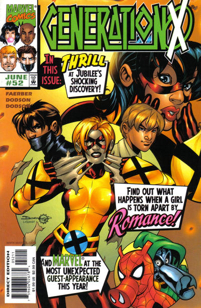 Cover for Generation X (Marvel, 1994 series) #52 [Direct Edition]