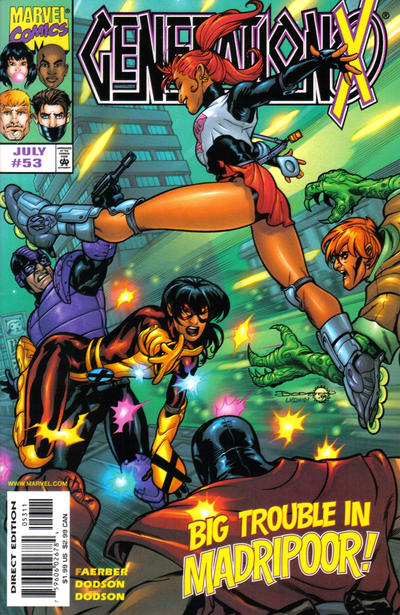 Cover for Generation X (Marvel, 1994 series) #53 [Direct Edition]
