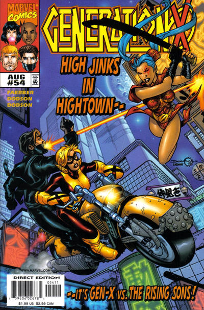 Cover for Generation X (Marvel, 1994 series) #54 [Direct Edition]