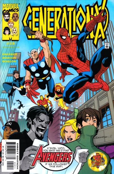 Cover for Generation X (Marvel, 1994 series) #59 [Direct Edition]