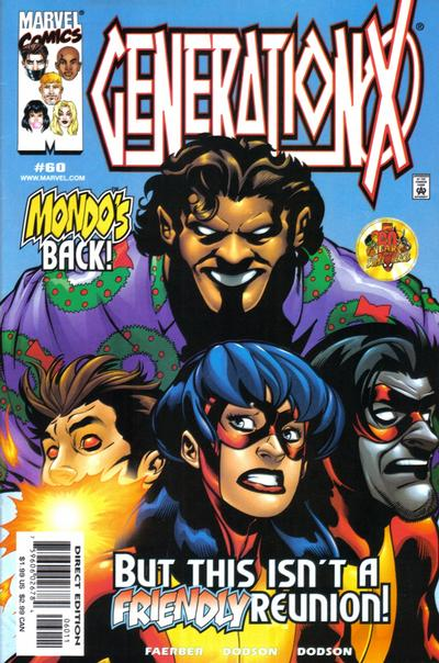 Cover for Generation X (Marvel, 1994 series) #60 [Direct Edition]