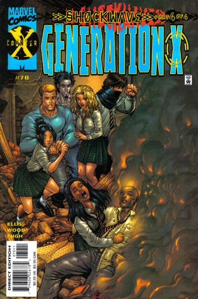 Cover for Generation X (Marvel, 1994 series) #70 [Direct Edition]